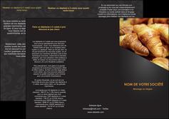 faire depliant 3 volets  6 pages  boulangerie maquette boulangerie croissant patisserie MIF33098