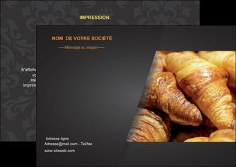 modele flyers boulangerie maquette boulangerie croissant patisserie MIF33100