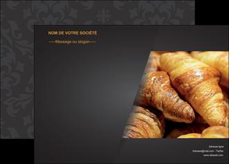 personnaliser modele de affiche boulangerie maquette boulangerie croissant patisserie MIF33102