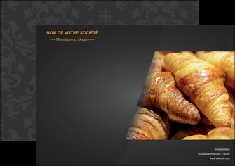 exemple affiche boulangerie maquette boulangerie croissant patisserie MIF33104