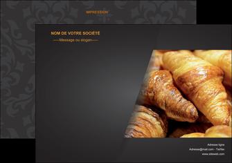 personnaliser modele de flyers boulangerie maquette boulangerie croissant patisserie MIF33106