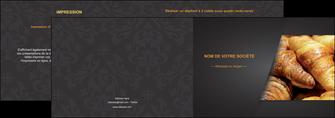 cree depliant 2 volets  4 pages  boulangerie maquette boulangerie croissant patisserie MIF33108