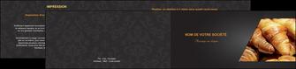 imprimer depliant 2 volets  4 pages  boulangerie maquette boulangerie croissant patisserie MIF33110