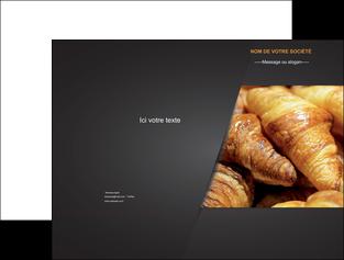 personnaliser modele de pochette a rabat boulangerie maquette boulangerie croissant patisserie MIF33112