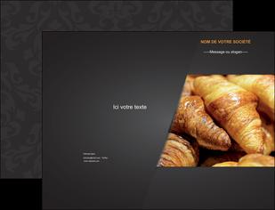 creer modele en ligne pochette a rabat boulangerie maquette boulangerie croissant patisserie MIF33114
