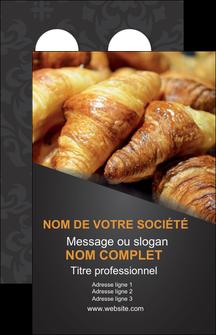 creer modele en ligne carte de visite boulangerie maquette boulangerie croissant patisserie MIF33116