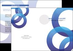 exemple depliant 2 volets  4 pages  texture contexture structure MLGI33142