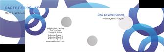 Commander cartes cartonnée  Carte commerciale de fidélité modèle graphique pour devis d'imprimeur Carte de visite Double - Paysage