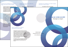 realiser depliant 3 volets  6 pages  texture contexture structure MLGI33152