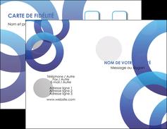 Commander Réaliser carte de visite  Carte commerciale de fidélité modèle graphique pour devis d'imprimeur Carte de visite Double - Portrait