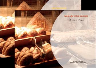 personnaliser maquette flyers boulangerie pain brioches boulangerie MLGI33264