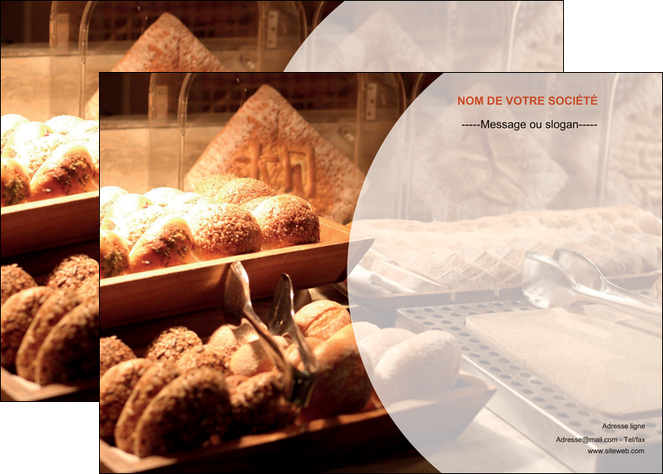 creation graphique en ligne affiche boulangerie pain brioches boulangerie MLGI33270