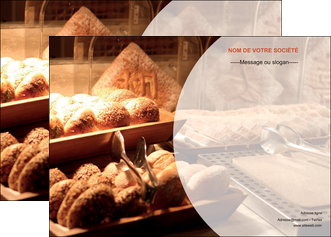 creation graphique en ligne affiche boulangerie pain brioches boulangerie MIF33270