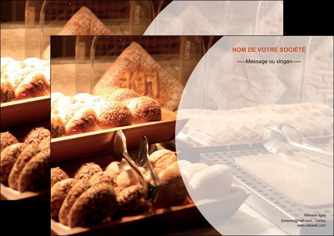 personnaliser modele de affiche boulangerie pain brioches boulangerie MLGI33272