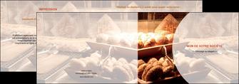 modele en ligne depliant 2 volets  4 pages  boulangerie pain brioches boulangerie MLGI33276