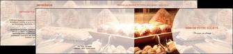 faire depliant 2 volets  4 pages  boulangerie pain brioches boulangerie MLGI33278