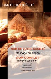 creer modele en ligne carte de visite boulangerie pain brioches boulangerie MIF33284