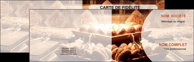 impression carte de visite boulangerie pain brioches boulangerie MIF33286