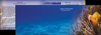 faire modele a imprimer depliant 2 volets  4 pages  paysage belle photo nemo poisson MLGI33460
