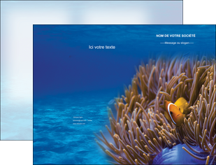 personnaliser modele de pochette a rabat paysage belle photo nemo poisson MLGI33466