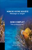 imprimer carte de visite paysage belle photo nemo poisson MLIP33468