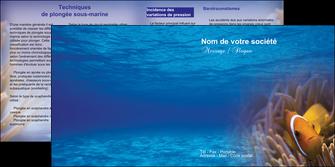 creation graphique en ligne depliant 2 volets  4 pages  paysage belle photo nemo poisson MLGI33476
