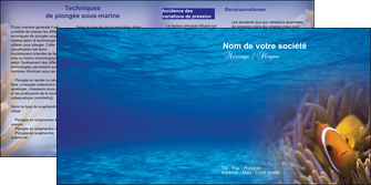 creation graphique en ligne depliant 2 volets  4 pages  paysage belle photo nemo poisson MLGI33476