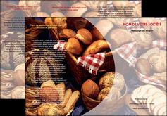 imprimerie depliant 3 volets  6 pages  boulangerie pain boulangerie patisserie MIF33524