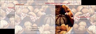 imprimer depliant 2 volets  4 pages  boulangerie pain boulangerie patisserie MIF33532