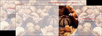 cree depliant 2 volets  4 pages  boulangerie pain boulangerie patisserie MIF33534