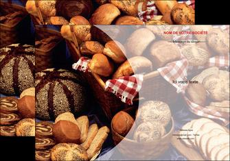 exemple pochette a rabat boulangerie pain boulangerie patisserie MIF33536