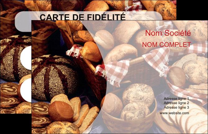 modele carte de visite boulangerie pain boulangerie patisserie MIF33540