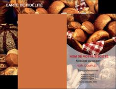realiser carte de visite boulangerie pain boulangerie patisserie MIF33542