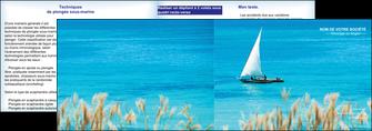 imprimer depliant 2 volets  4 pages  paysage faire part de mariage carte de mariage invitation mariage MIS33778