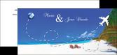 impression carte de correspondance faire part de mariage avec photo de plage et tropique plage maldives MLGI33800