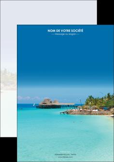 personnaliser modele de affiche paysage plage vacances tourisme MLGI33804