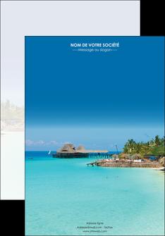 maquette en ligne a personnaliser affiche paysage plage vacances tourisme MLGI33808