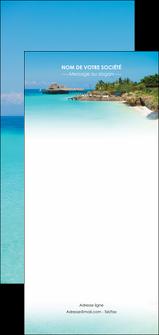 impression flyers paysage plage vacances tourisme MLGI33810