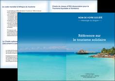 realiser depliant 2 volets  4 pages  paysage plage vacances tourisme MLGI33812