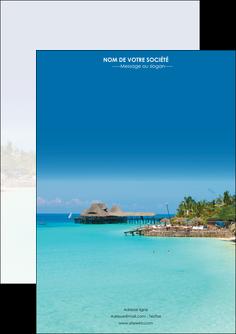 personnaliser modele de flyers paysage plage vacances tourisme MLGI33814