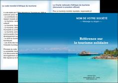 faire depliant 2 volets  4 pages  paysage plage vacances tourisme MLGI33818