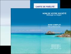 creer modele en ligne carte de visite paysage plage vacances tourisme MLGI33820