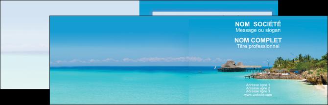 Imprimer Carte De Visite Paysage Plage Vacances Tourisme MLGI33822