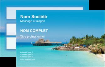 imprimerie carte de visite paysage plage vacances tourisme MLGI33824