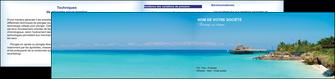 faire depliant 2 volets  4 pages  paysage plage vacances tourisme MLGI33828