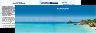 maquette en ligne a personnaliser depliant 2 volets  4 pages  paysage plage vacances tourisme MLGI33830