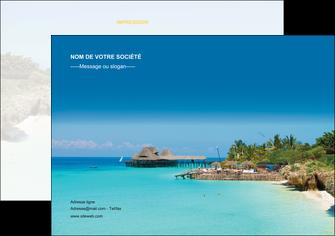 exemple flyers paysage plage vacances tourisme MLGI33832