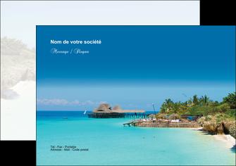 imprimer flyers paysage plage vacances tourisme MLGI33838