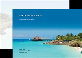 exemple flyers paysage plage vacances tourisme MLGI33840