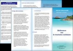 imprimerie depliant 3 volets  6 pages  paysage plage vacances tourisme MLGI33842